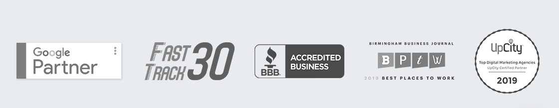 Uptick Marketing's accreditation and accolades